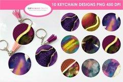 10 Galaxy Print&Cut Round Acrylic Keychain Background Design Product Image 1