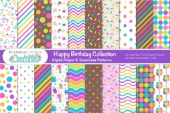 Happy Birthday SVG Bundle - Cut Files & Digital Paper Product Image 2