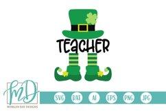 Teacher Leprechaun - St Patrick's Day SVG Product Image 2
