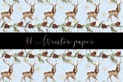 Winter digital paper pattern Product Image 2