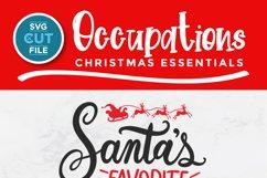 Christmas Nurse Practitioner svg -Santa's favorite np svg Product Image 3