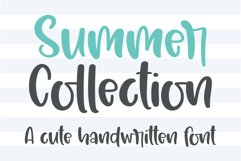 Summer Collection - A cute handwritten font Product Image 1