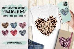 Sublimation Background Bundle, Leopard Skin Distressed Heart Product Image 1