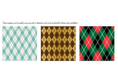 Seamless Red Blue Christmas Patterns Product Image 4