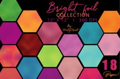 Colorful foil digital papers Product Image 1