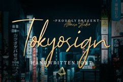 Web Font - Tokyosign Product Image 1