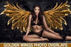 Golden Angel Wing overlay & Photoshop overlay Product Image 1