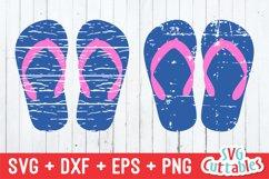 Flip Flop SVG   Distressed Flip Flop   Summer SVG Product Image 1
