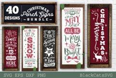 Christmas porch signs bundle SVG Vertical signs SVG Bundle Product Image 3