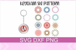 Keychain Sun Patterns SVG PNG DXF Files Product Image 1