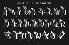 Acmedia Butterflies and Flowers Font Product Image 2