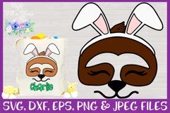 Easter | Sloth Face SVG Cut File Product Image 1
