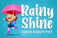 Rainy Shine - Unique Bouncy Font Product Image 1