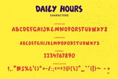 Daily Hours - A Fun Display Font Product Image 6