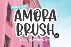AMORA BRUSH a Cute Handwritten Font Product Image 1