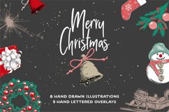 Christmas elements and lettering Product Image 1