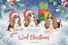 Woof Christmas Watercolor Product Image 1