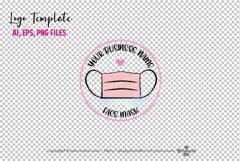 business logo template, Pink face mask logo design Product Image 2