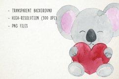 Watercolor Koalas Clipart Koalas Clip Art, Australian Product Image 2