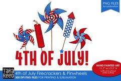4th of July pinwheels - US Patriotic Sublimation files Product Image 1