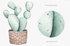 """Watercolor ClipArt """"Home Plants"""" Product Image 4"""
