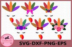 Turkey SVG, Turkey Face SVG, Thanksgiving svg, Patterns Product Image 1