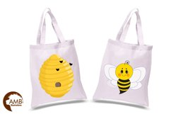 Bumble bee cliparts, Honey bee cliparts, graphics, illustrations AMB-1053 Product Image 2
