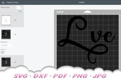 Love Paw Print SVG DXF Cut Files Product Image 2