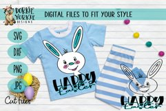 Hand-Drawn - BUNDLE - Boy, Girl Bunny, Happy Easter - SVG Cu Product Image 2