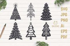 Scandinavian Style X-mas Trees SVG Bundle, Christmas Decor Product Image 1
