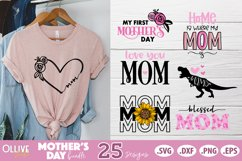 Mothers Day SVG Bundle, Mom Mother's Day SVG Product Image 3