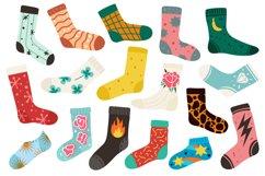 Trendy socks. Cotton stylish long and short funny sock desig Product Image 1