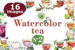 Watercolor tea-2 vector set Product Image 1