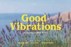 Good Vibrations | Opentype-SVG Font Product Image 1