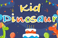 Kid dinosaur Handwritten- cute kid font Kawaii style Product Image 1