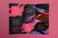 Digital Advertising Agency Brochure Trifold Product Image 3