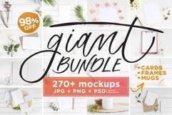 Mockups Giant Bundle - JPG PNG PSD Product Image 1
