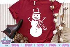 Snowman SVG   Christmas SVG   Holiday SVG Product Image 1