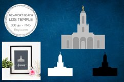 Newport Beach California LDS Temple Clipart Product Image 1