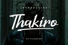 Thakiro // Modern Script Font Product Image 1
