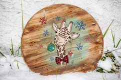 Cute Giraffe Sublimation Design PNG, New Year Bundle Product Image 6