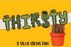 Web Font Thirsty Cactus - A Silly Cacti Font Product Image 1