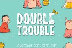 Double Trouble Sans Serif Font Product Image 1
