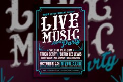 Live Music Typography Poster Flyer Product Image 4