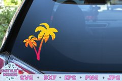 Palm Tree SVG | Summer SVG | Silhouette | Grunge | Ombre Product Image 2