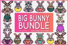 THE BIG BUNNY BUNDLE SVG 16 MANDALA / ZENTANGLE DESIGNS Product Image 1