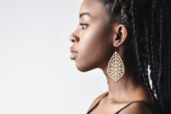 Leaf earrings, earrings svg bundle, earring template leather Product Image 3