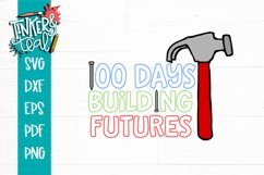 100 Days of School Building Futures SVG Product Image 2