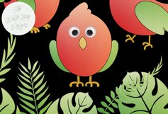 Tropical Parrots & Birds Clipart Set Product Image 4