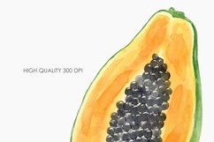 Watercolor Tropical Fruit Clipart. Food illustration Product Image 4